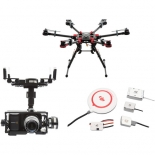 dji spreading wings s900 with zenmuse z15-bmpc gimbal and a2 flight controller