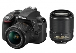 nikon d3300 with (18-55mm vr ii) (55-200mm vr ii) lens kit.1