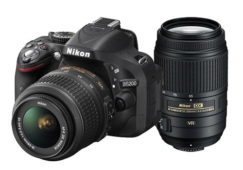 Camera Nikon D5200 Kit With 18 55mm Vr 55 300mm Vr Lens Kit
